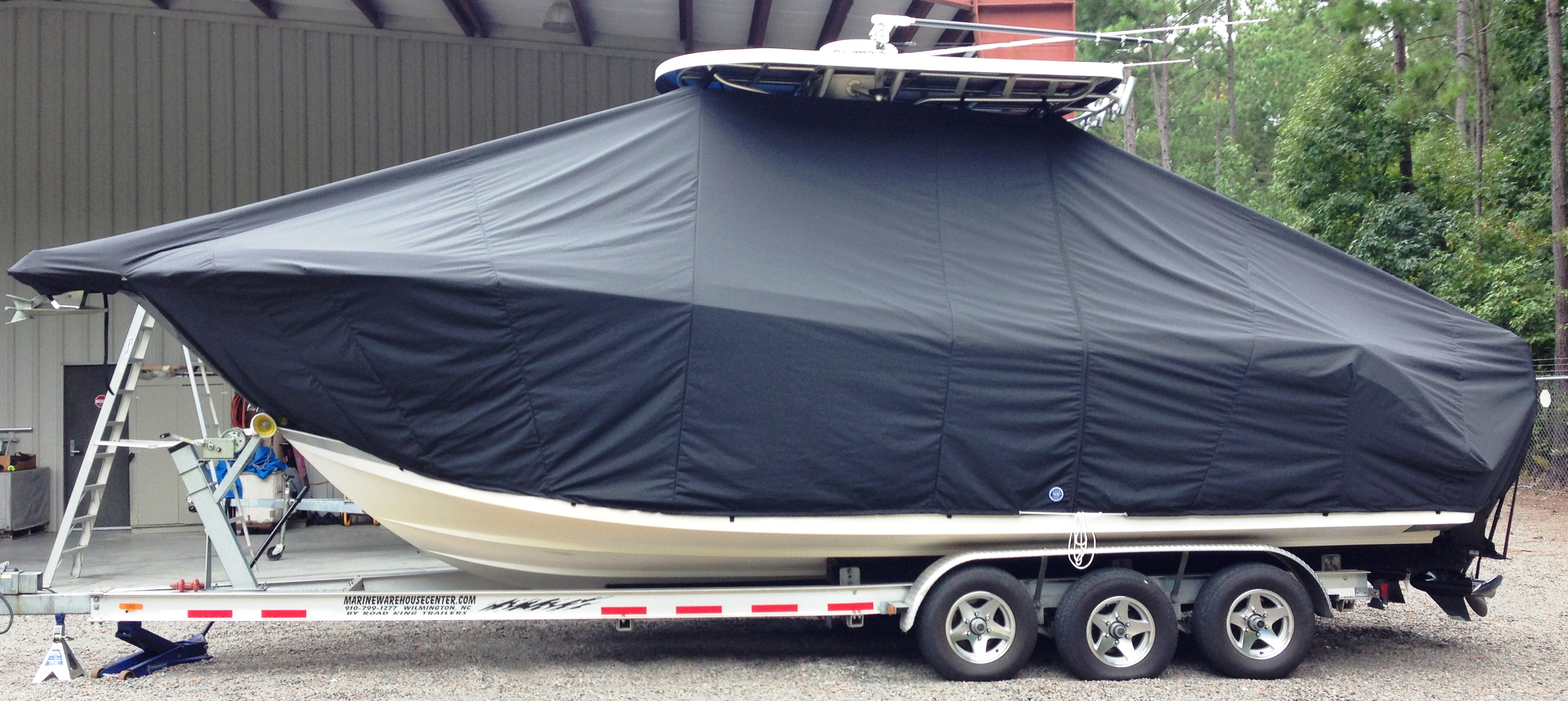 ProLine 29 Grand Sport, 20xx, TTopCovers™ T-Top boat cover, port side
