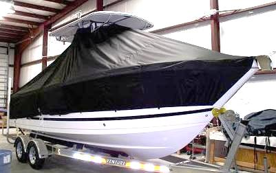 Proline 23 Sport, 20xx, TTopCovers™ T-Top boat cover, starboard front