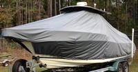 Photo of Pursuit 2470 20xx T-Top Boat-Cover, viewed from Port Front
