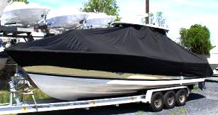 Pursuit 3480, 20xx, TTopCovers™ T-Top boat cover, port front
