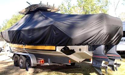Pursuit 3480, 20xx, TTopCovers™ T-Top boat cover, port rear