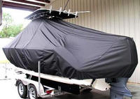 Photo of Pursuit C 230 20xx T-Top Boat-Cover, viewed from Port Rear