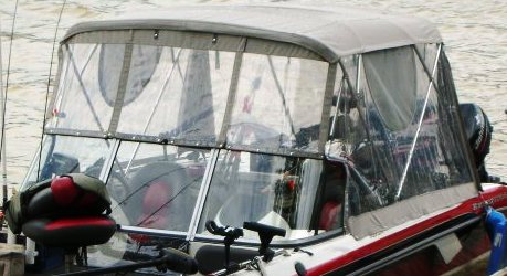 Ranger 210-Reata, 2008: Bimini-Top,, Front-Connector Side-and-Aft-Curtains, port-front