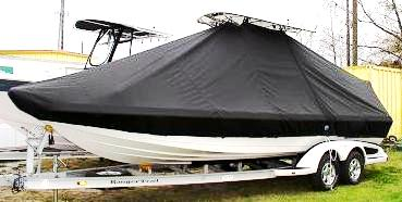 Ranger 2400 Bay, 20xx, TTopCovers™ T-Top boat cover, port front