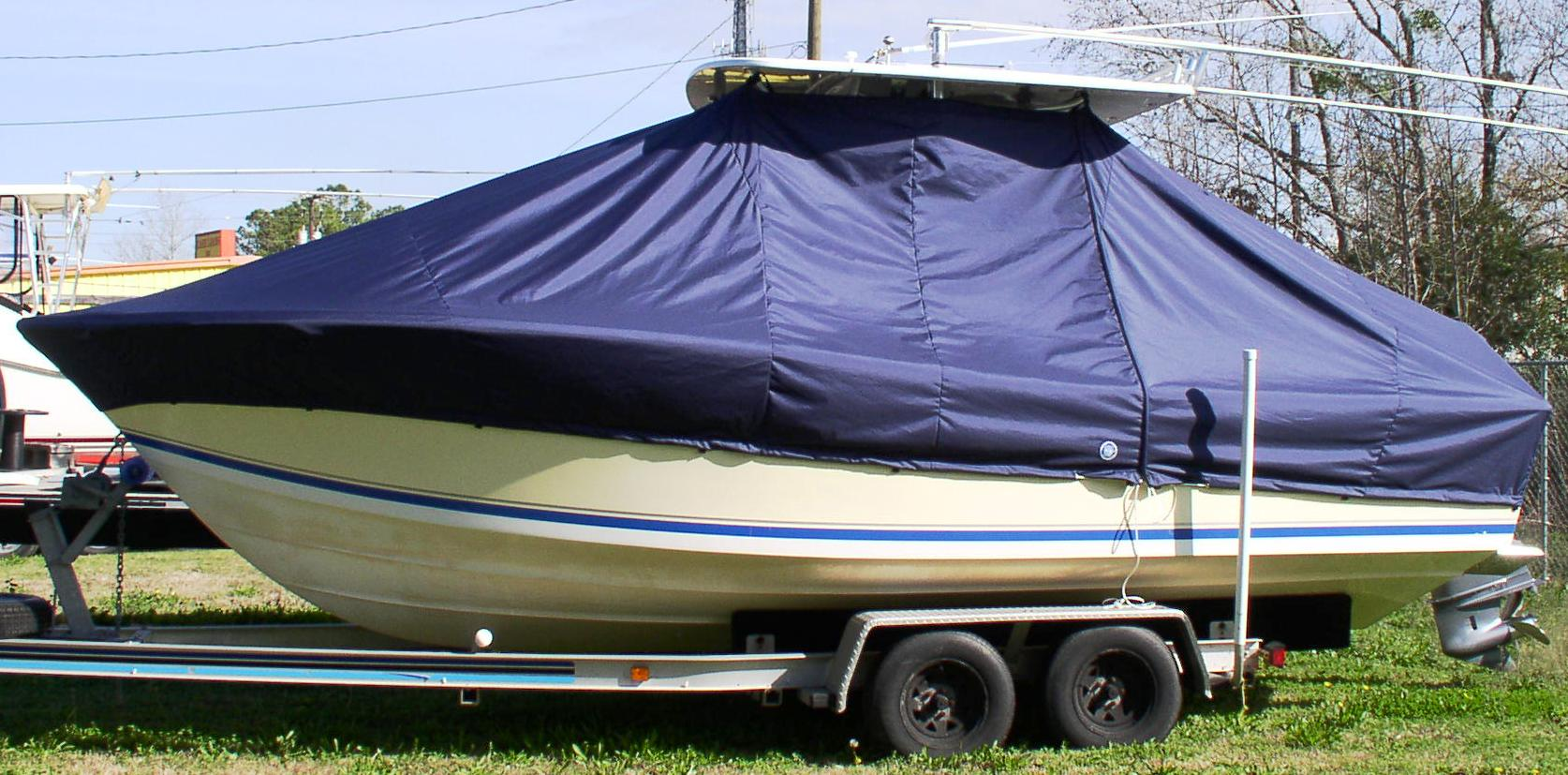 Regulator 23FS, 20xx, TTopCovers™ T-Top boat cover, port side
