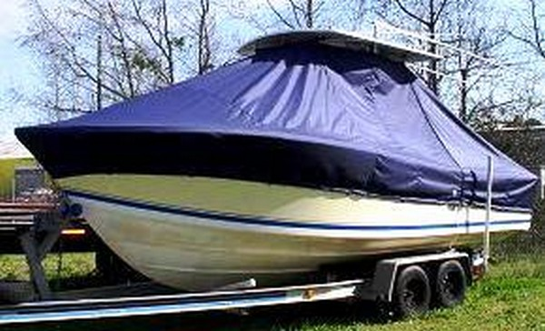 Regulator 23, 19xx, TTopCovers™ T-Top boat cover, port front