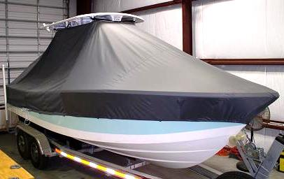 Regulator 24FS, 20xx, TTopCovers™ T-Top boat cover, starboard front
