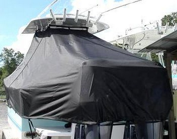 Regulator 26FS, 19xx, TTopCovers™ T-Top boat cover stern