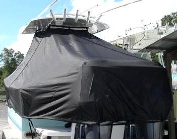 Regulator 26FS, 20xx, TTopCovers™ T-Top boat cover stern