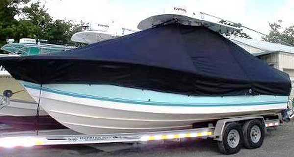 Regulator 26, 19xx, TTopCovers™ T-Top boat cover, port front