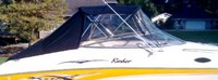 Photo of Rinker 232 Captiva Cuddy, 2003: Bimini, Front Connector, Side Curtains, Aft Curtain, viewed from Starboard Side