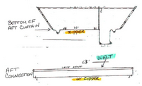 Photo of Rinker 262 Captiva Cuddy NO Arch, 2005: Aft-Curtain Bottom Connection Sketch