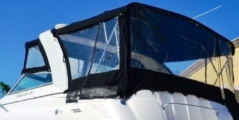Bimini top side curtains