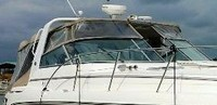 Rinker, 420 Express Cruiser Canvas Tops, 2007, Bimini Top, Connector, Side Curtains, Camper Top, Camper Side Curtains, stbd front