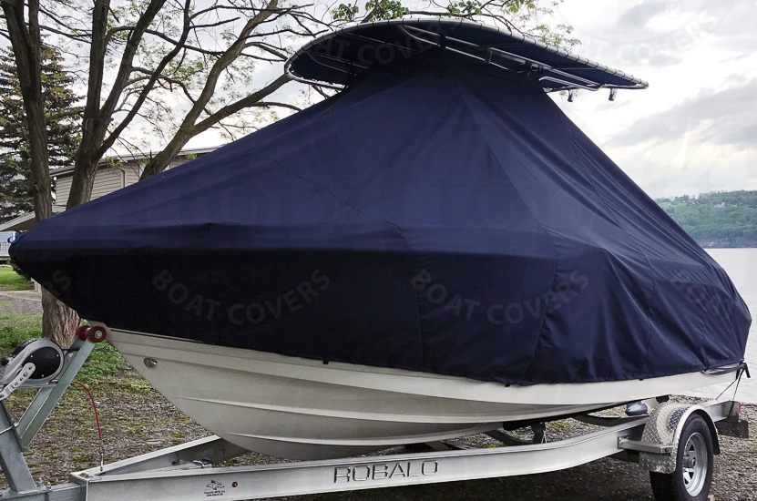 Robalo 180CC, 20xx, TTopCovers™ T-Top boat cover, port front
