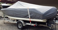LaPortes™ TTopCover™ Carolina Skiff, 23 Ultra, 20xx, T-Top Boat Cover, port rear