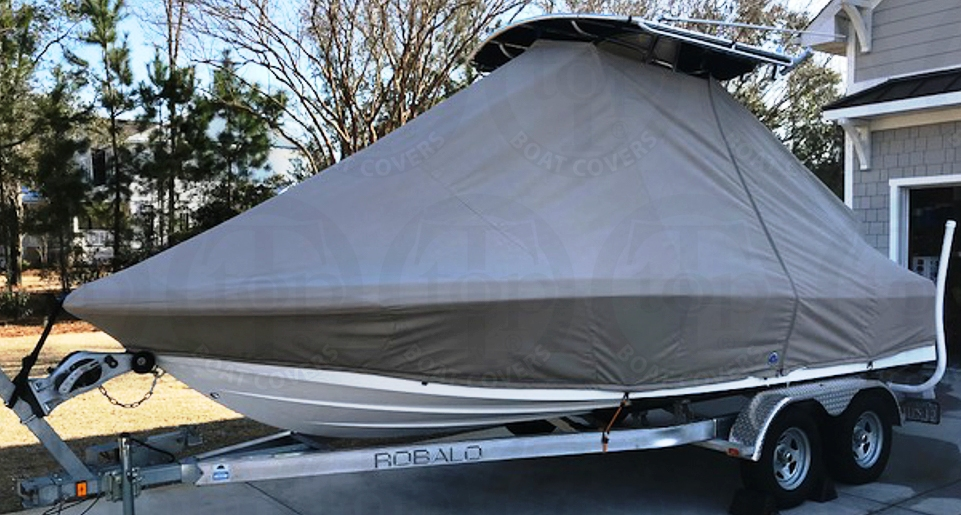 Robalo, 206 Cayman, 20xx, TTopCovers™ T-Top boat cover, port front