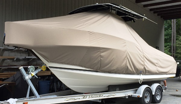 Robalo 230CC, 20xx, TTopCovers™ T-Top boat cover, port front