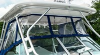 Robalo, 305WA, 2015, Hard Top, Front Connector, Side Curtains, Aft Drop Curtain, port rear