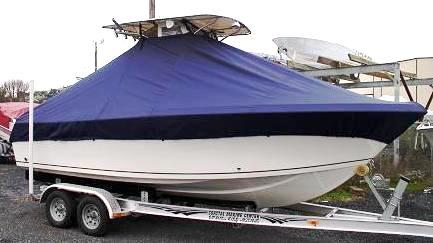 Sailfish 216CC, 20xx, TTopCovers™ T-Top boat cover stdb side