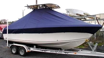 Sailfish 218CC, 20xx, TTopCovers™ T-Top boat cover stdb side