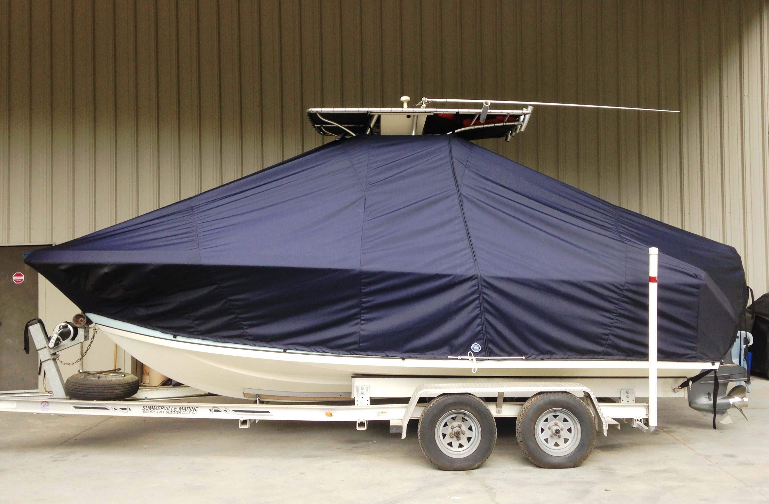 Sailfish 220CC, 20xx, TTopCovers™ T-Top boat cover, port side