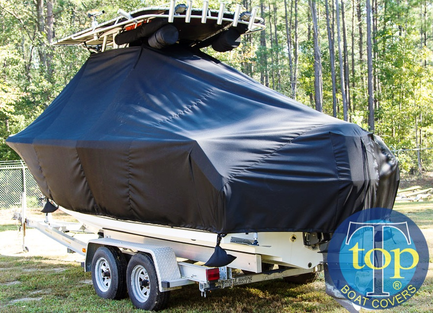 Sailfish 2360CC, 20xx, TTopCovers™ T-Top boat cover, port rear