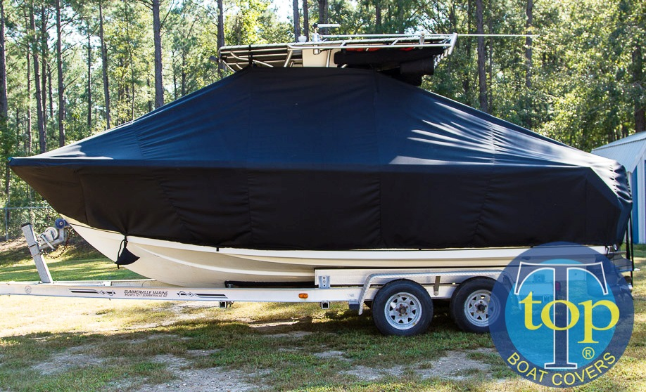 Sailfish 2360CC, 20xx, TTopCovers™ T-Top boat cover, port side