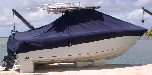 Sailfish 2360CC, 20xx, TTopCovers™ T-Top boat cover, starboard side
