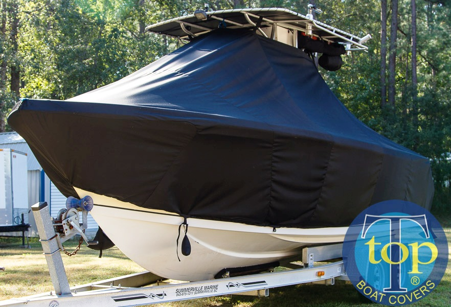Sailfish 236CC, 20xx, TTopCovers™ T-Top boat cover, port front
