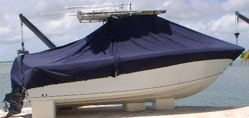 Sailfish 240CC, 20xx, TTopCovers™ T-Top boat cover, starboard side