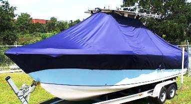 Sailfish 2660CC, 20xx, TTopCovers™ T-Top boat cover, port front