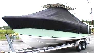 Sailfish 2860CC, 20xx, TTopCovers™ T-Top boat cover, port front