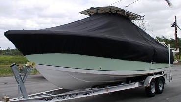 Sailfish 290CC, 19xx, TTopCovers™ T-Top boat cover, port front