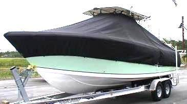 Sailfish 290CC, 20xx, TTopCovers™ T-Top boat cover, port front