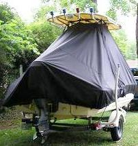 Scout 172SF, 19xx, TTopCovers™ T-Top boat cover rear