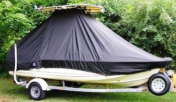 Scout 172SF, 19xx, TTopCovers™ T-Top boat cover side