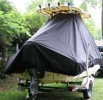 Scout 172SF, 20xx, TTopCovers™ T-Top boat cover rear