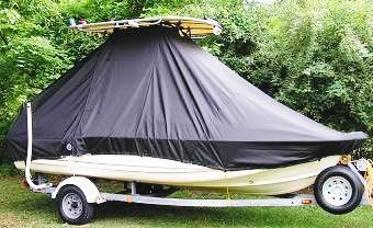 Scout 172SF, 20xx, TTopCovers™ T-Top boat cover side
