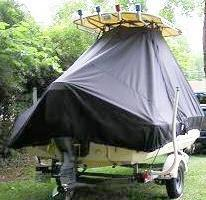 Scout 175SF, 20xx, TTopCovers™ T-Top boat cover, starboard rear