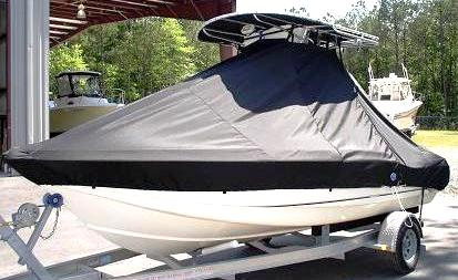 Scout 185SF, 19xx, TTopCovers™ T-Top boat cover side