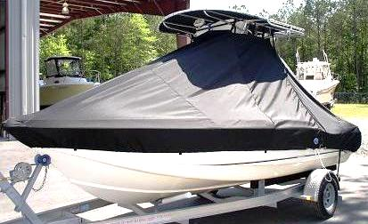 Scout 185SF, 20xx, TTopCovers™ T-Top boat cover side