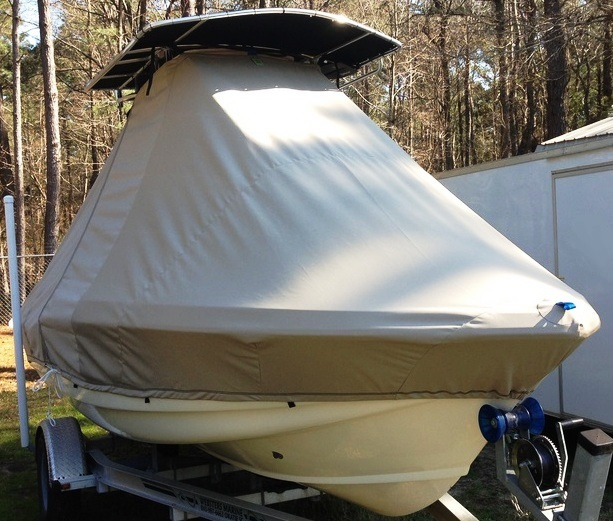 Scout 187SF, 20xx, TTopCovers™ T-Top boat cover, starboard front