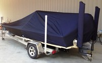 LaPortes™ Scout, 191 Bay Scout, 20xx, Boat Cover LCC, with Optional Power Pole covers, port rear