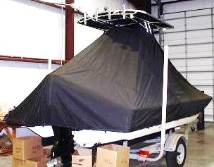Scout, 200 Bay Scout, 20xx, TTopCovers™ T-Top boat cover rear