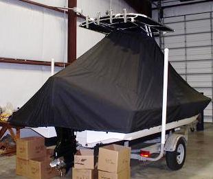 Scout, 200 Bay Scout, TTopCovers™ T-Top boat cover 557 rear