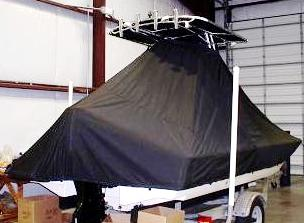 Scout, 201 Bay Scout, 20xx, TTopCovers™ T-Top boat cover rear