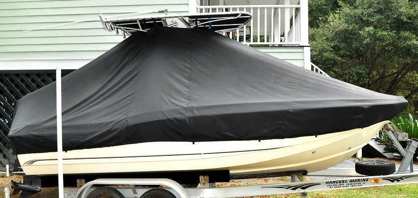 Scout, 205SF, 20xx, TTopCovers™ T-Top boat cover