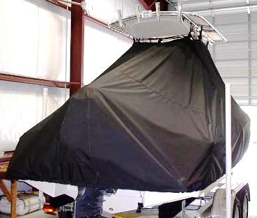 Scout 210SF, 20xx, TTopCovers™ T-Top boat cover rear