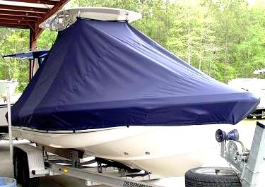 Scout 220 Bay Scout, 20xx, TTopCovers™ T-Top boat cover front
